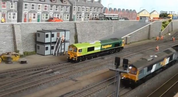 model trains on display
