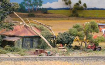 weathering and detailing structures and scenery