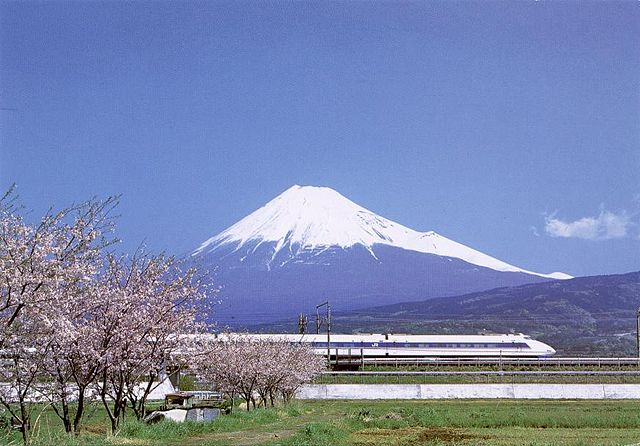 Mount Fuji Japan with High Speed Train