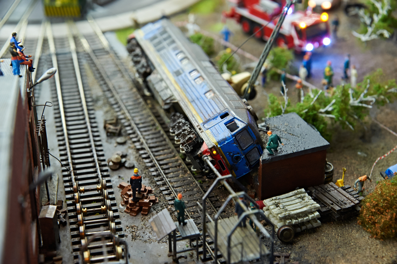 derailed train on model railways