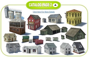 buy scale model railway buildings cheap
