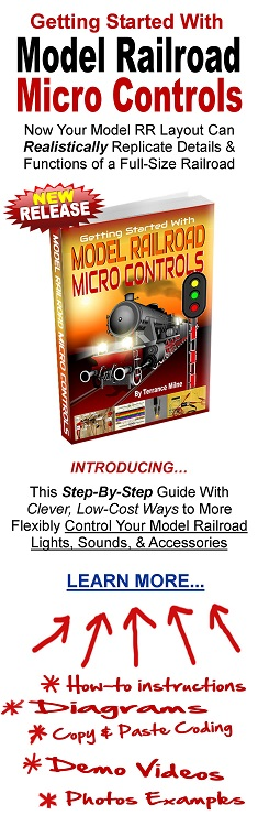 arduino micro controls for model railroads